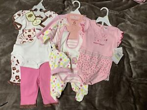Baby girl pink cute sets new 0-3m