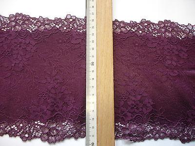 elastische Spitze vino 16,5cm breit AO68