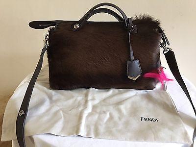 NWOT Authentic FENDI By The Way Small Fur Satchel Handbag Bag