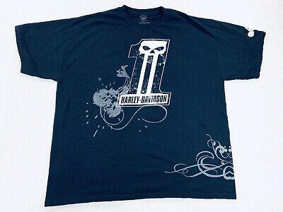 Harley Davidson HD Willie G Racing #1 Black T Shirt Utah UT Jazz Men's Size XL