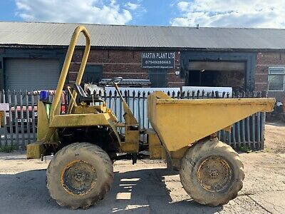 DUMPER 3 TON MINI DIGGER EXCAVATOR 3 CYLINDER ELECTRIC START LISTER ENGINE LOOK