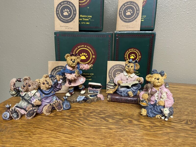Boyds Bears Bearstone Collection - Lot of 4 FIRST EDITIONS