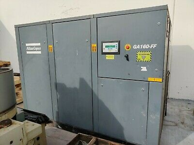 2003 Atlas Copco 200hp Model Ga - 160 Screw Air Compressor With Only 9k Hours