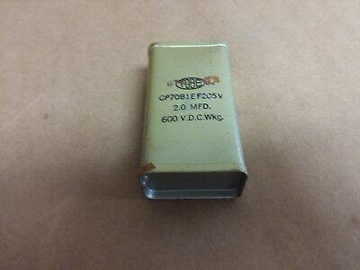 Oil Hermetically Sealed Capacitor Cp70b1ef205v 600vdc 2mfd