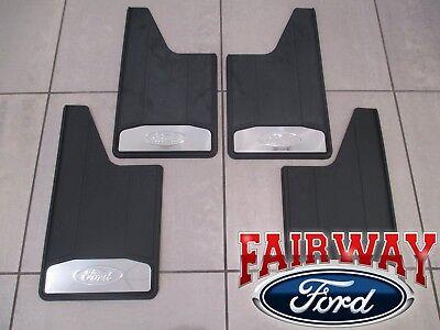 15 thru 20 F-150 OEM Ford Splash Guards Mud Flaps w/ Stainless Inserts 4-pc Set F150 Mud Flap