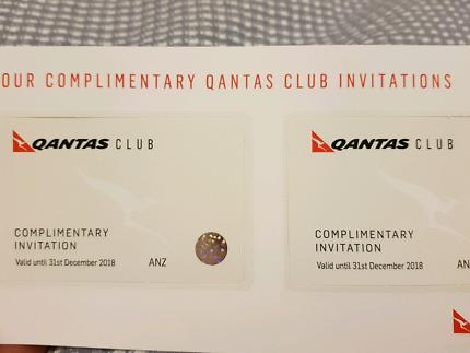2 qantas club lounge passes