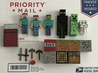 Minecraft Action Figures & Accessories Lot
