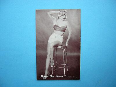 1947/66 ACTORS & ACTRESSES EXHIBIT CARD PHOTO MAIMI VAN DOREN SHARP!! EXHIBITS