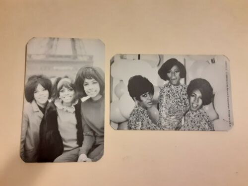 """SET OF 2 DIANA ROSS  - """"THE SUPREMES"""" 1986 MOTOWN 4"""" X 2 1/2"""" B/W CARDS # 1"""