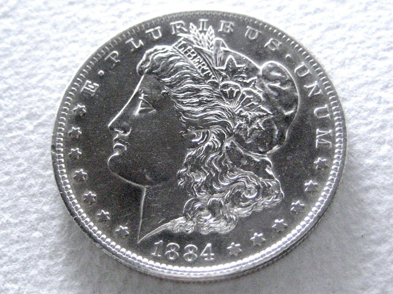 1884-S Morgan Dollar, Reflective PL Mirrors Extreme Detail 21-Y  - $595.00