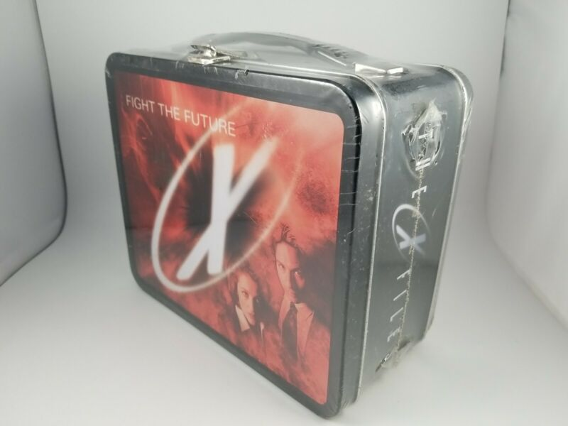 Vintage 1998 The X-Files Fight the Future Movie Metal Lunch Box NEW Gwhiz