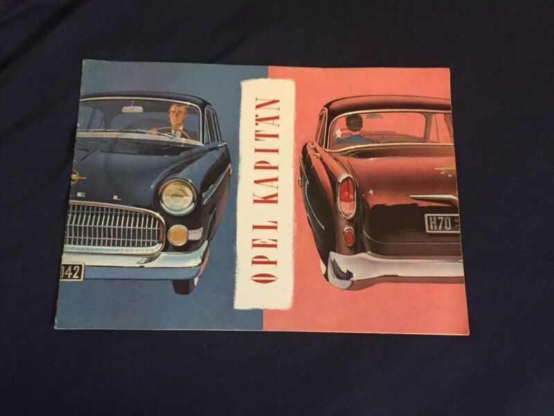 1950s Opel Kapitan  German Market Color Brochure Catalog Prospekt