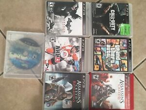 PS3 with one controller, 7 Games.