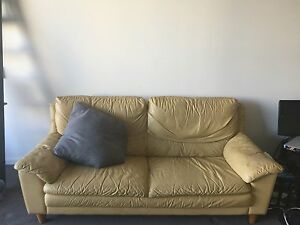 2 mustard coloured sofas Zetland Inner Sydney Preview
