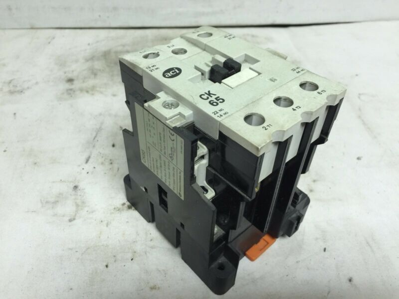 Advanced Controls Contactor, CK65, 3 Phase, 120V Coil, 85A, 600VAC, Used