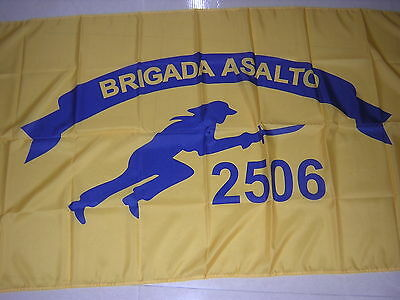Flag Of Brigade 2506 Cia Sponsored Group Of Cuban Exiles 1960 Cuba Ensign 3X5ft