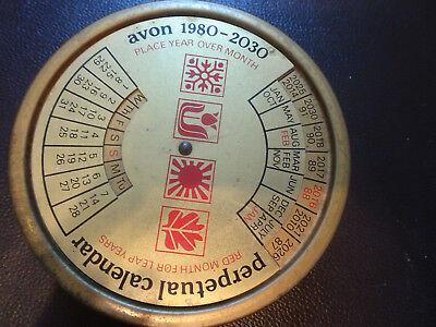Avon Perpetual Calendar tin, Vintage 1980