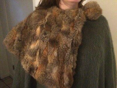 Vintage Designer Koos Van Den Akker Wool Cape With Fur Trim And Fur Hat