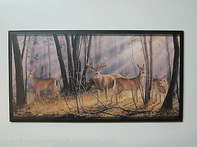 Used, Deer Big Buck Wall Decor Plaque country lodge sign hunting cabin picture animals for sale  Malvern