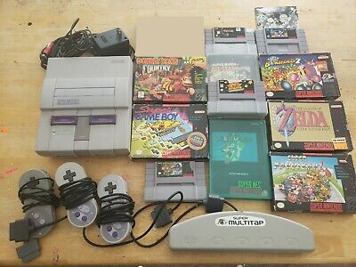 SNES Super Nintendo Console with 11 Great Games (Free Shipping)