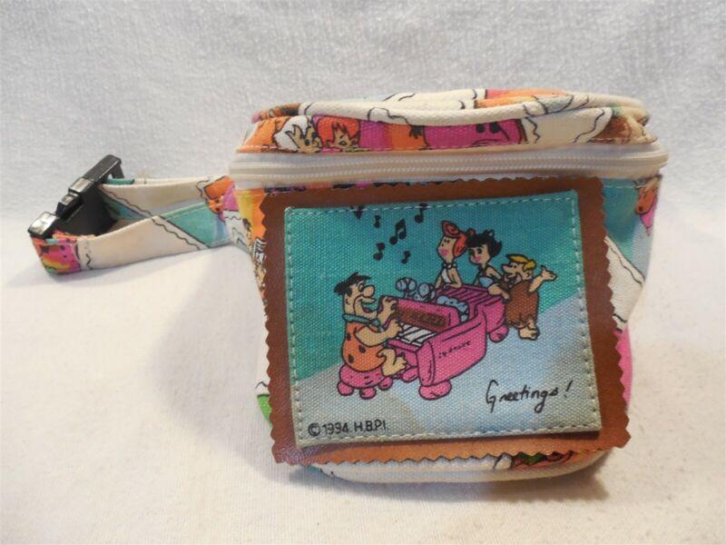 Flintstones 1994 HBP Fanny Pack w/Bone Handle - Fred, Barney, Betty & Wilma