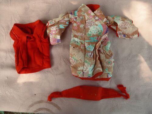 "Vintage silk kimono made for an 11"" Japanese Gofun Ichimatsu girl doll no doll"