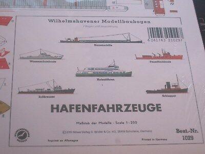 Hafenfahrzeuge 1:250 Wilhelmshavener Modellbaubogen Kartonmodel Bastelbogen