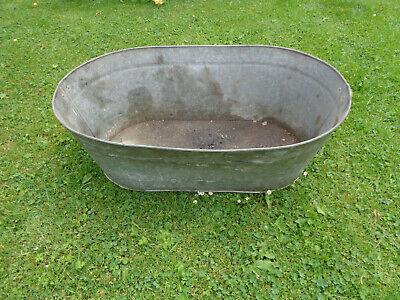Vintage Original Tin Bath. Oblong Shape.Great Planter!