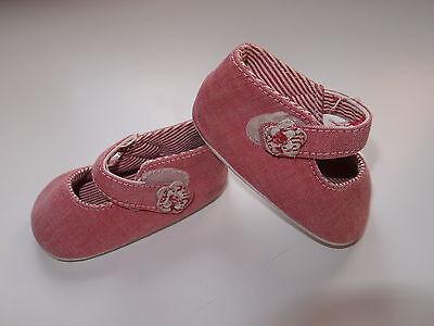 Zapatos de tela para niña, color rosa, sin suela, Nº 17/18. COMBINO...