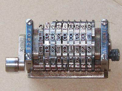 17 Printing Press 9 Digit Rotary Numbering Machine-by Atlantic Force- Straight