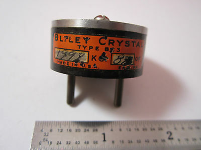 Vintage Wwii Quartz Radio Crystal Bliley Bc3 1992 Kc Frequency Control Bin2b I