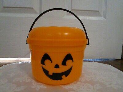 Vintage 1986 McDonalds Orange Pumpkin Halloween Bucket Trick-or-Treat Candy Pail