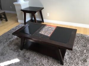 Used coffee table and end table