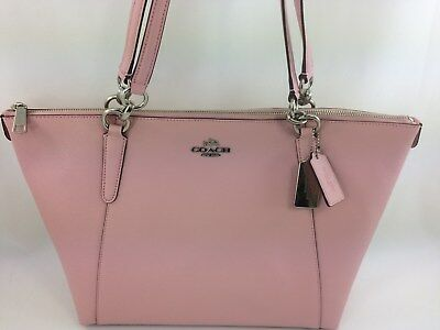 New Authentic Coach F57526 AVA Leather Tote Handbag Purse Bag Petal Pink