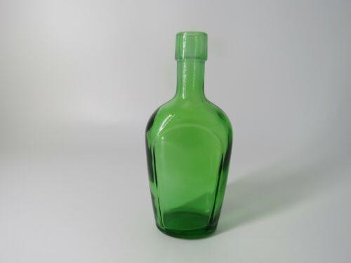 "VINTAGE 6"" WHEATON NJ PHARMACEUTICAL GREEN GLASS BOTTLE"