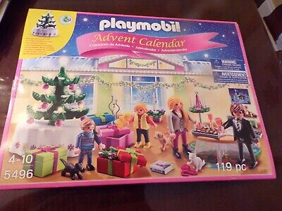 2013 Advent Calendar Playmobil 5496-119 pc. +light up Christmas tree New/Sealed