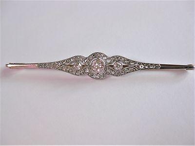 Art Deco Brosche Gold 585 mit Diamanten