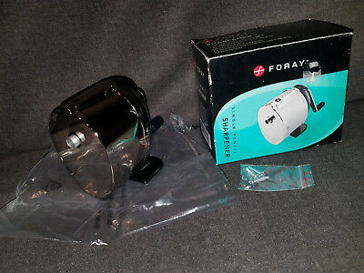 Foray Table Mount Steel Pencil Sharpener Brand New School Metal Standard