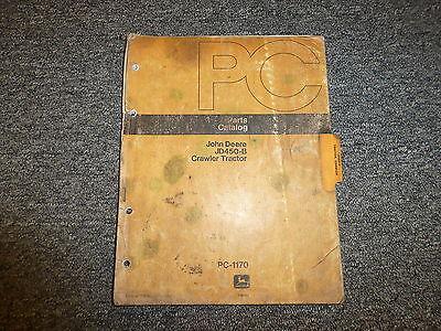 John Deere 450b Crawler Tractor Dozer Parts Catalog Manual Pc1170