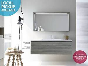 40% OFF►WAS $520►1200mm Wood Grain Wall Hung Soft Close Vanity Auburn Auburn Area Preview