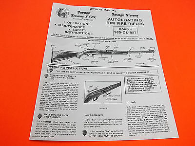 Remington Model Six Pump Action Center Fire Rifle Original Owner/'s Manual 1982