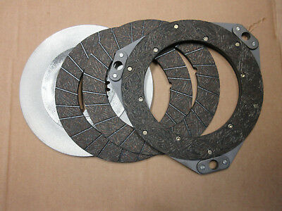 John Deere 60 620 630 Clutch Disc Set -- New Reproduction --- Riveted