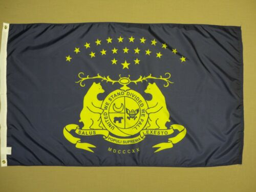 Missouri MO State Guard Indoor Outdoor Dyed Nylon Historical Flag Grommet 3