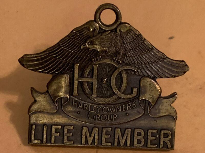 NEW Vintage 1982 Harley Davidson HOG LIFE MEMBER PIN  Owners Group Eagle