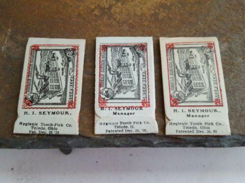 1905 Buffalo Brewing Co. Sacramento, Ca. Hygienic Tooth Pick Co. Toothpicks