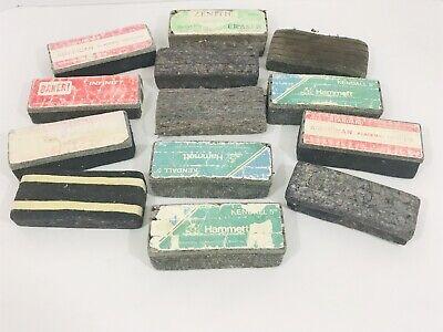 Lot Of 13 Vintage Weber Costello Chalkboard Erasers Noisless Felt Double Sewed