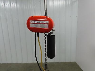 Cm Lodestar 1 Ton Electric Chain Hoist 20 Travel 16 Pendant 16 Fpm 120 Volt
