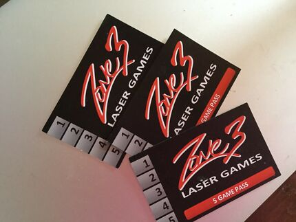 Zone 3 Laser Games 5 Game Pass x3