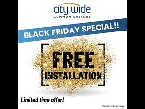 City Wide Internet $54.95/ mo.... Free Activation Fee!