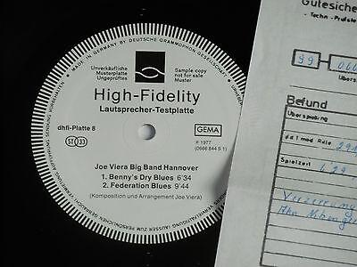 HIFI LAUTSPRECHER - TESTPLATTE LP Promo Archiv-Copy mint